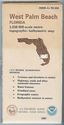 US Geological Survey topographic map metric WEST PALM BEACH Florida 1987