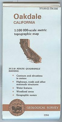 US Geological Survey topographic map metric OAKDALE California 1994