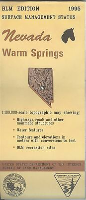 USGS BLM edition topographic map Nevada WARM SPRINGS 1995