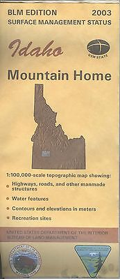 USGS BLM edition topographic map Idaho MOUNTAIN HOME 2003