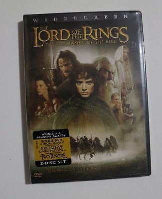 Nip Lord Of The Rings  Fellowship Of The Ring 2 Disc Dvd Wide Screen Edition