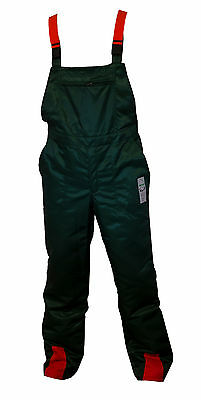 """Bib & Brace Forestry Chainsaw Safety Protection Trousers 32"""" Waist"""