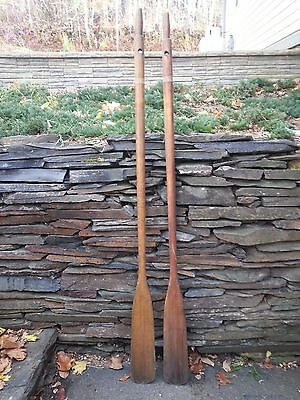 """An Interesting Set of 72"""" Oars Wooden Natural Finish"""