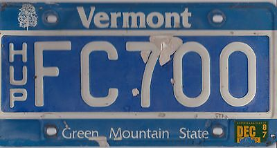 🐦🐦🌟 Authentic Usa 1987 Vermont License Plate. Hup = Highway Use Permis. 🐦