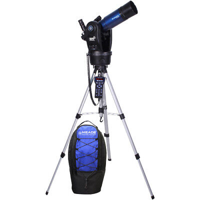 Meade Etx80 Observer Telescope With Audiostar Hand Controller And Back