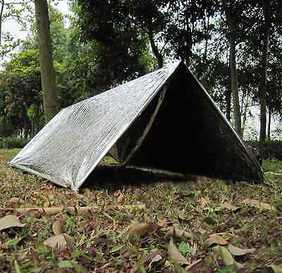 New Camping Shelter PET Aluminum Tent Travel Survival Essential Emergency Tents