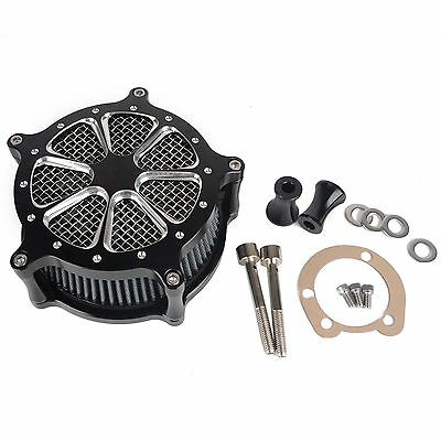 Motorcycle Black CNC Air Cleaner Intake Filter System for Harley Softail Dyna