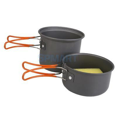 1Set Collapsible Picnic Backpacking Cookware Utensil Pot/Pan Camping Cooking