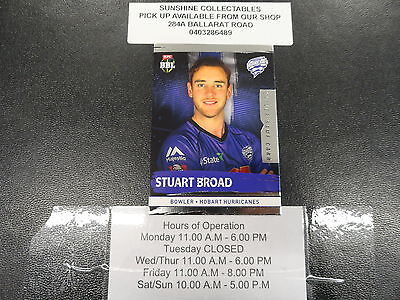 2016/17 Cricket Tap N Play Silver Game Card No.101 Stuart Broad