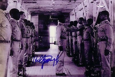 Hilton Joseph Tuskegee Airmen WWII Red Tails Autographed Signed Photo #3 TOUGH