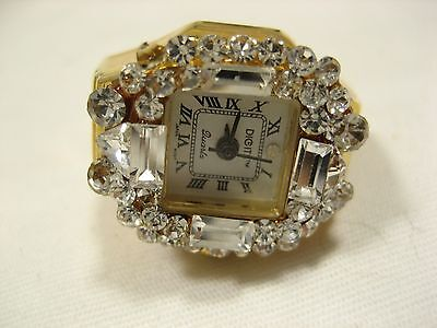 Ring Watch DIGITS Crystal Rimmed Design  For parts or repair