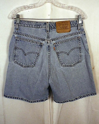 vtg 80s Levis 950 relaxed fit USA made Orange Tab Denim Jean Shorts ladies 10 R