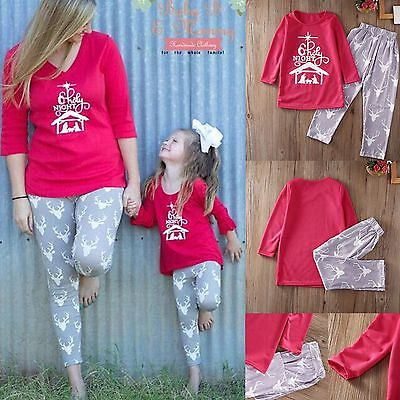 New Family Matching Christmas Pajamas Set  Womens Baby Kids Sleepwear Nightwear