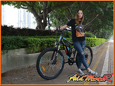 "Addmotor HITHOT 26"" Mountain Electric Bicycles 500W Fork Suspension Absorber"