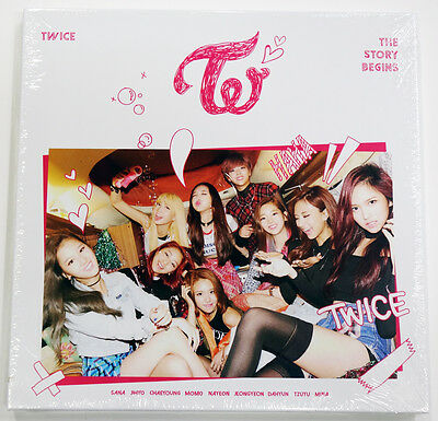 TWICE - THE STORY BEGINS (1st Mini) CD+Garland+3 Cards+Poster+Gift Photocards