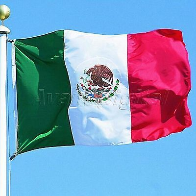 Mexico National Flag Mexican Country Grommets Flags Polyester Banner 3ft x 5ft