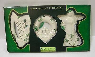Ireland Watervale Parian China Hanging Decorations Harp/cladagh/angle Pack Of 3