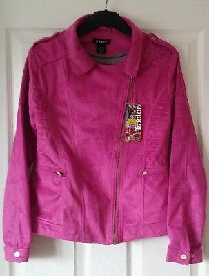 Girls Gorgeous Tractor BNWT Short Soft Touch Jacket by Pink Age 14