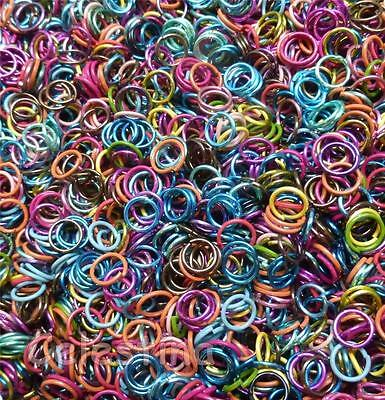 200 x 6mm Mixed Colours Jump Rings Close Unsoldered Bright Hoops Electrophoresis