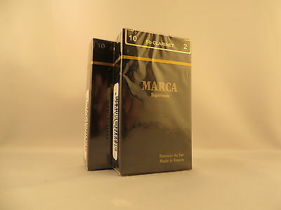 20 Marca Superieure #2.5 or 2-1/2  Bb Clarinet Reeds Made in France