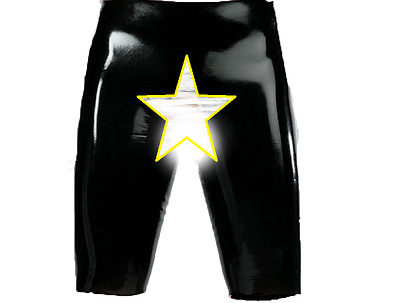 Fetish Bondage Rubber Latex Wear Bermuda Shorts Peephole 5320 Gimp Gay Catsuit