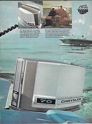 1977 Chrysler Marine 70 HP. Outboard Motor 2 Page Color Ad