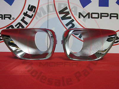 JEEP GRAND CHEROKEE Chrome Fog Light Dress-Up Kit NEW OEM MOPAR