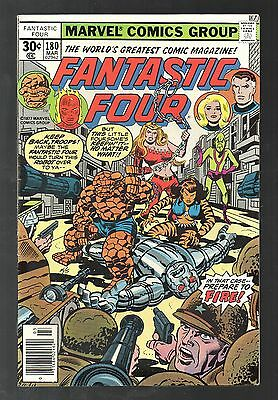 Fantastic Four Vol 1 No 180 Mar 1977 (VFN+) Cents Copy, Bronze Age (1970-1979)