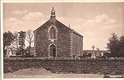 northern ireland postcard ulster irish londonderry desertmartin r c church