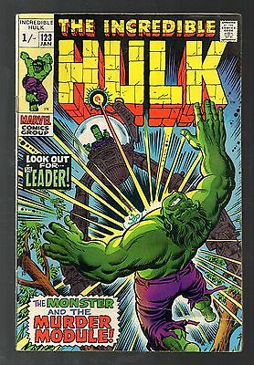 Incredible Hulk Vol 1 No 123 Jan 1970 (VFN-) Marvel, Bronze Age (1970 - 1979)