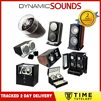 Time Tutelary Dual and 4-Way Automatic Watch Winder -  BURL and Black