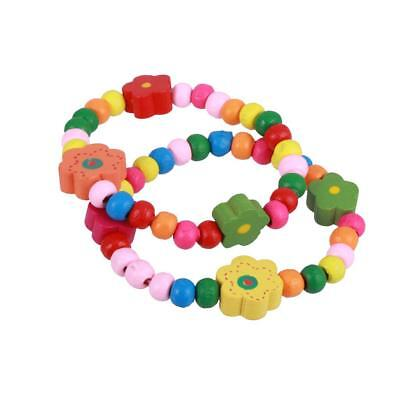 12pcs kids childrens wooden wristbands bracelets Party Bag Fillers Pinata Prizes