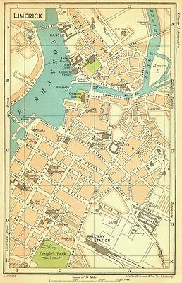IRELAND. Limerick 1932 old vintage map plan chart
