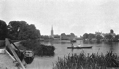 BUCKS. Great Marlow rowers 1897 old antique vintage print picture