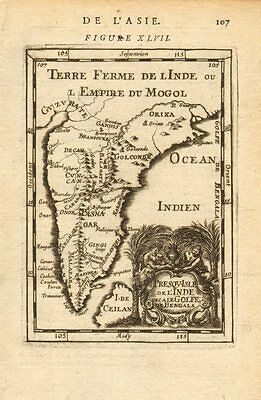 INDIA. Moghul Mogul Mughal Empire. Goa Kochi Chaul &c. MALLET 1683 old map