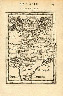 MOGHUL EMPIRE. India Afghanistan &c. Delhi Agra. Mughal Mogul. MALLET 1683 map
