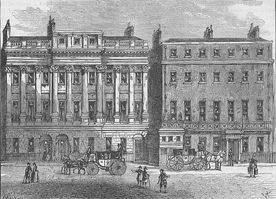 PICCADILLY. Hamilton Place in 1802. London c1880 old antique print picture