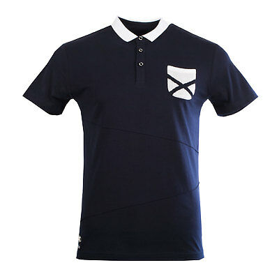 Heritage of Scotland Men's Saltire Pocket Polo Collar T-Shirt