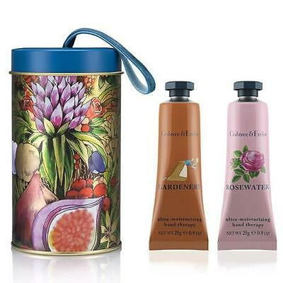 Crabtree & Evelyn Ornament Tin Gift Set - Gardeners and Rosewater