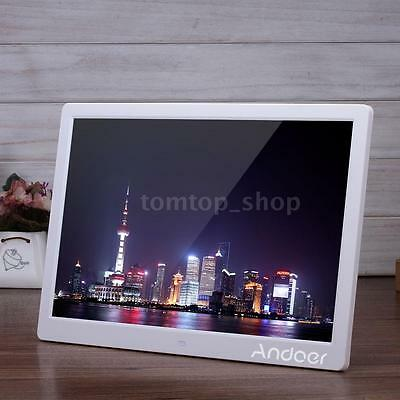 15.6'' HD LED Digital Photo Frame Picture Movie Player Clock With Remote Control