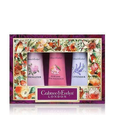 Crabtree & Evelyn 3 x 25g Hand Therapy Gift Set - Florals