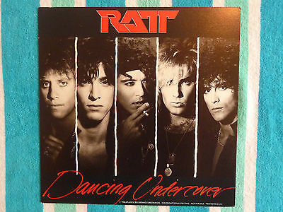 """RATT Dancing Undercover 12""""x 12"""" LP-SIZED PROMOTIONAL POSTER FLAT Double Sided"""