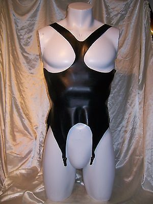 Fetish Bondage Rubber Corset Latex 4240 Gimp Gay  Sexy Catsuit Suspenders