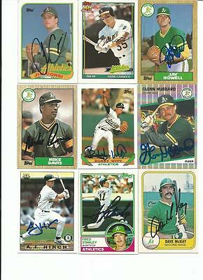 Oakland   Athletics    9   Card   Autographed   Lot