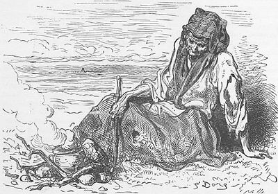 SPAIN. Spanish gypsy cooking a meal 1893 old antique vintage print picture