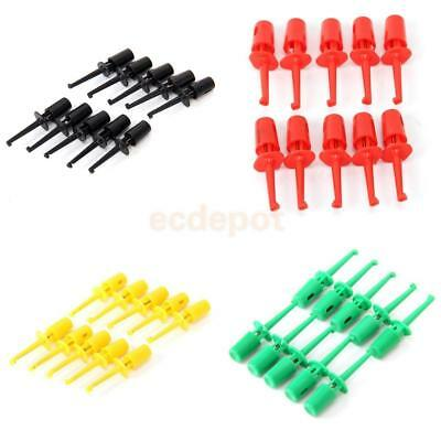 10x Mini Grabber Test Hook Probe Spring Clip for PCB SMD IC Multimeter -4 Colors