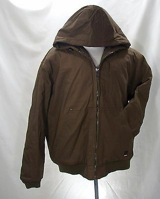 Craftsman Men's Insulated Hooded Utility Jacket Teflon Size XL X-LARGE Brown NWT