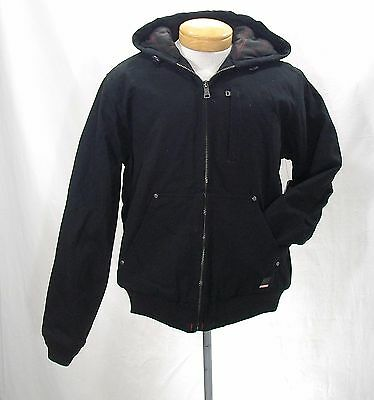 Craftsman Men's Insulated Hooded Utility Jacket Teflon Size MEDIUM Black NWT