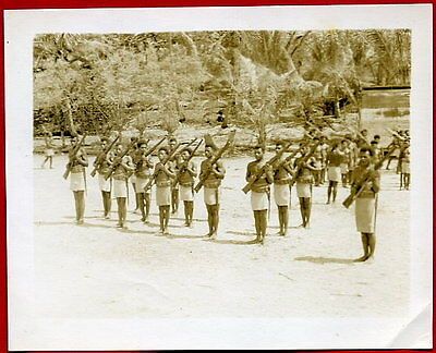 WW2 PTO Native Soldiers on Parade Original Photo