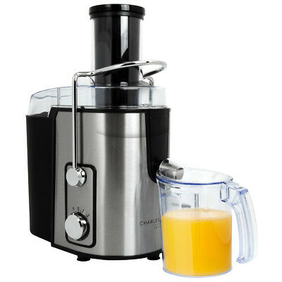 Charles Bentley Whole Fruit 800W Power Juicer Citrus Extractor Stainless Steel
